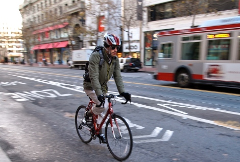 Spotted: Commuting in SF