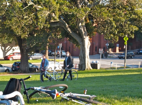 Bicycles in Dolores Park!